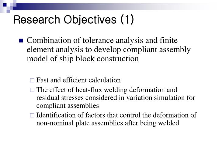 Research Objectives (1)