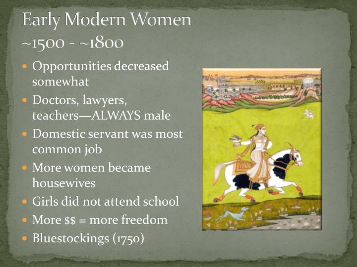 Early Modern Women