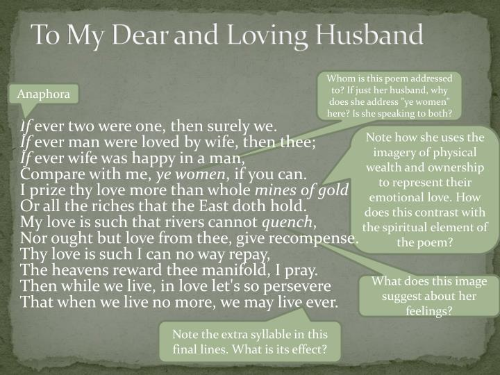 To My Dear and Loving Husband