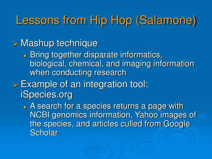 Lessons from Hip Hop (Salamone)