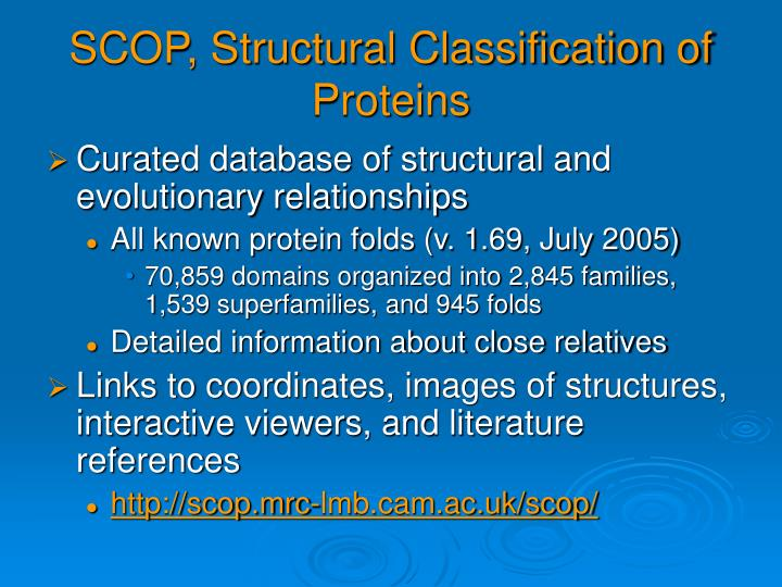 SCOP, Structural Classification of Proteins