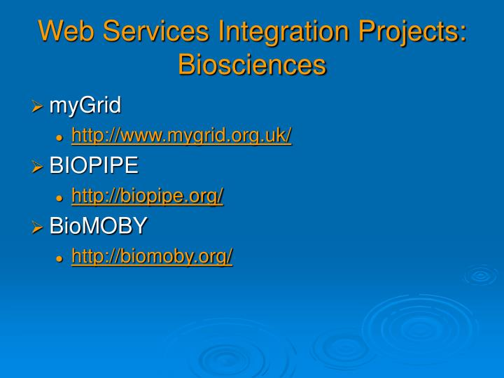 Web Services Integration Projects: