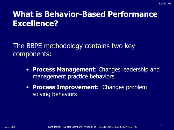 What is Behavior-Based Performance Excellence?