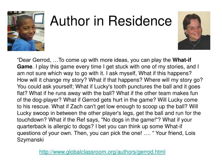 Author in Residence