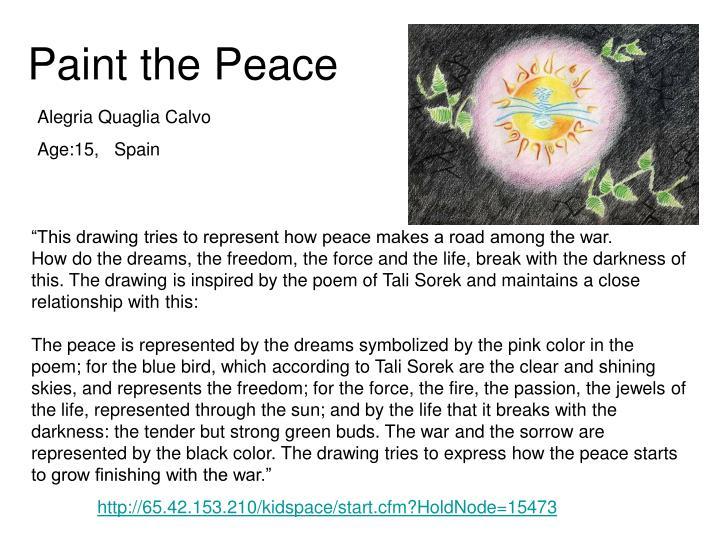 Paint the Peace