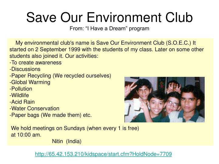 Save Our Environment Club
