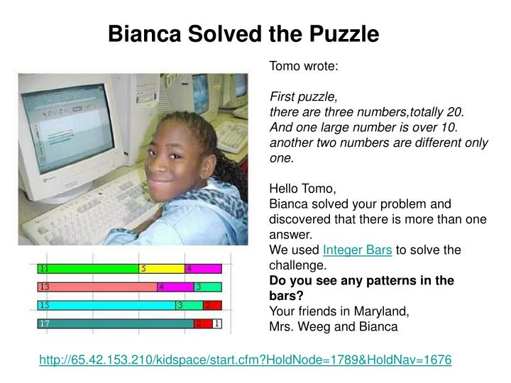Bianca Solved the Puzzle