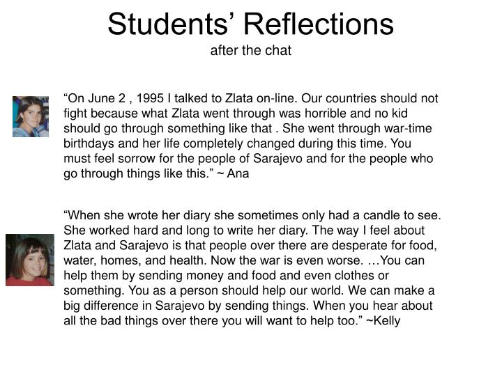 Students' Reflections