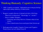 thinking humanly cognitive science