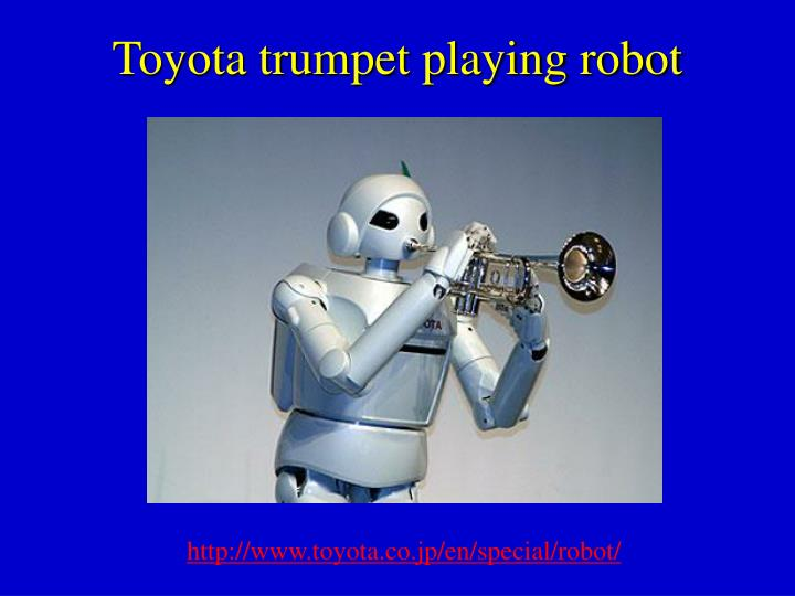 Toyota trumpet playing robot