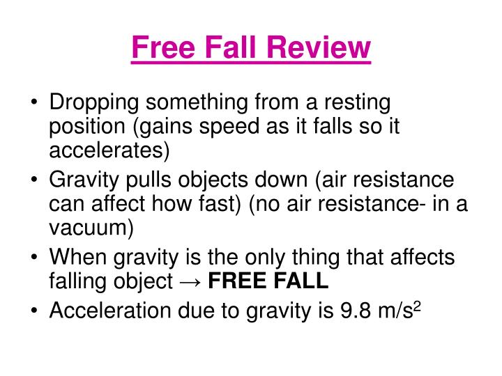 Free Fall Review