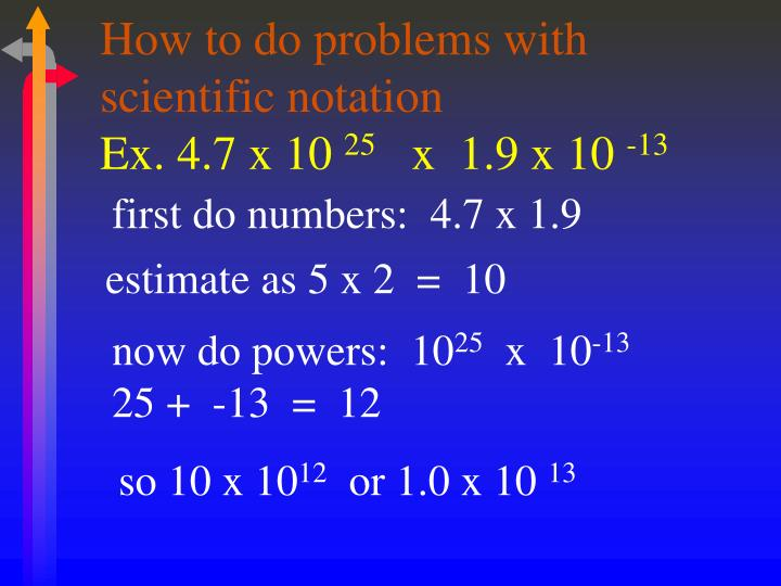 How to do problems with scientific notation