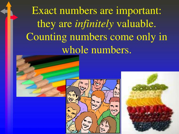 Exact numbers are important: they are