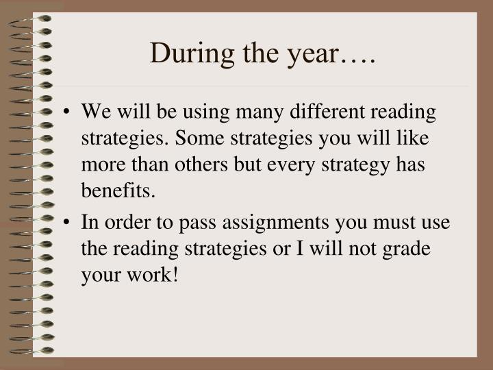 During the year….