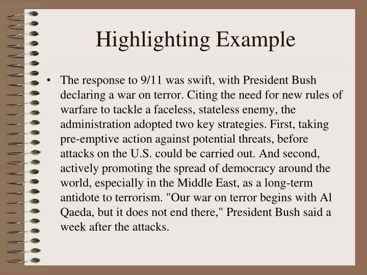 Highlighting Example