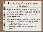 pre reading comprehension questions1