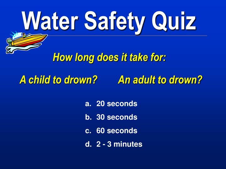 Water Safety Quiz