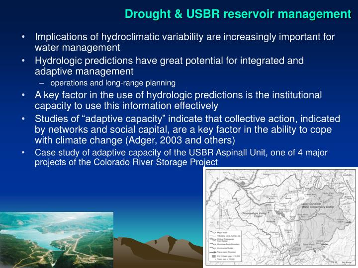 Drought & USBR reservoir management