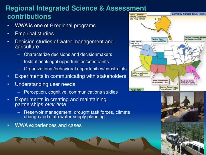 Regional Integrated Science & Assessment