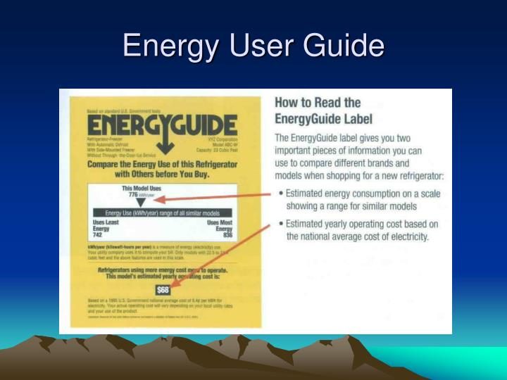Energy User Guide