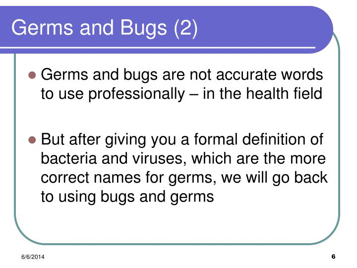 Germs and Bugs (2)