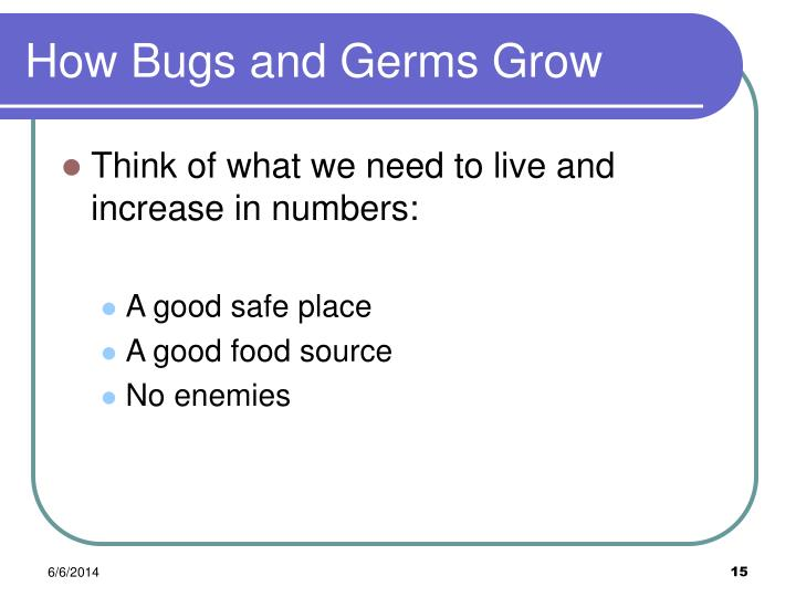 How Bugs and Germs Grow