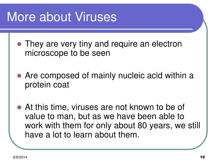 More about Viruses