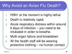 why avoid an avian flu death