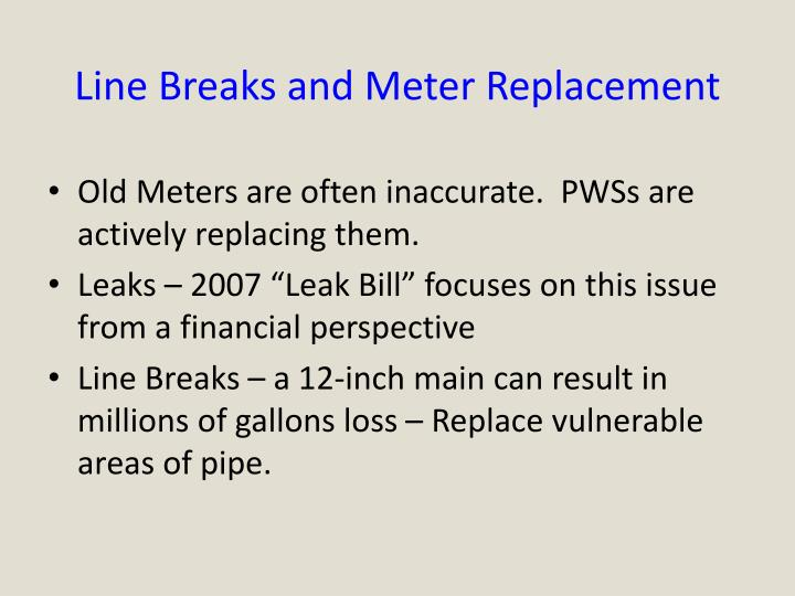 Line Breaks and Meter Replacement
