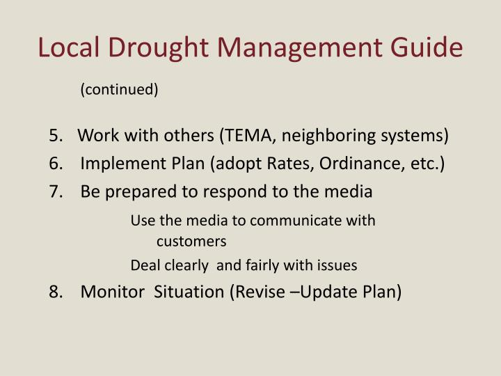 Local Drought Management Guide
