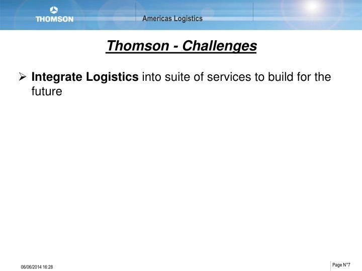 Thomson - Challenges