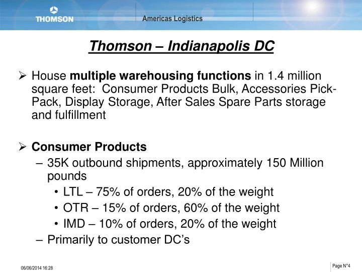 Thomson – Indianapolis DC