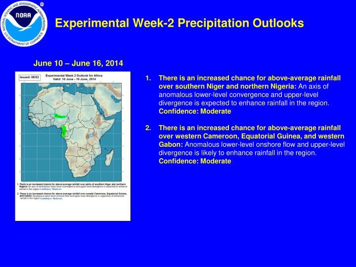 Experimental Week-2 Precipitation Outlooks