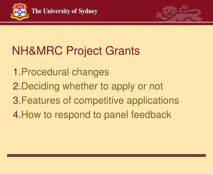 NH&MRC Project Grants
