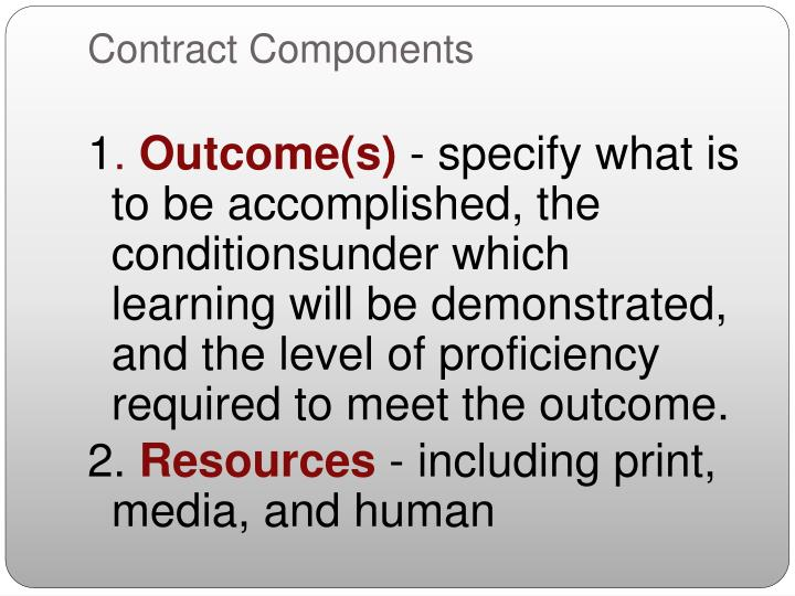 Contract Components