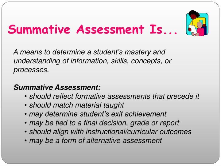 Summative Assessment Is...
