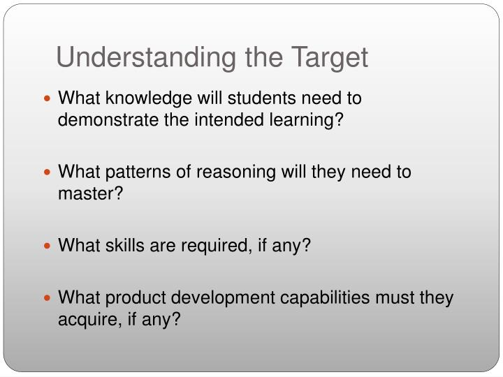 Understanding the Target