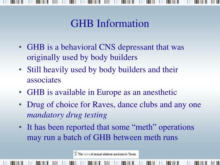 GHB Information