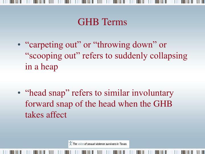 GHB Terms