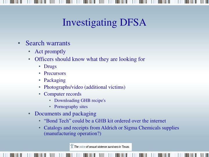 Investigating DFSA