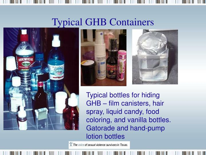 Typical GHB Containers
