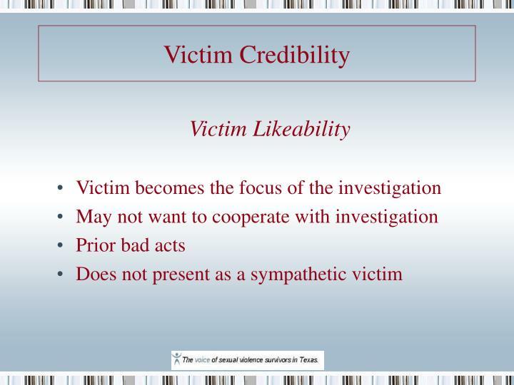 Victim Credibility