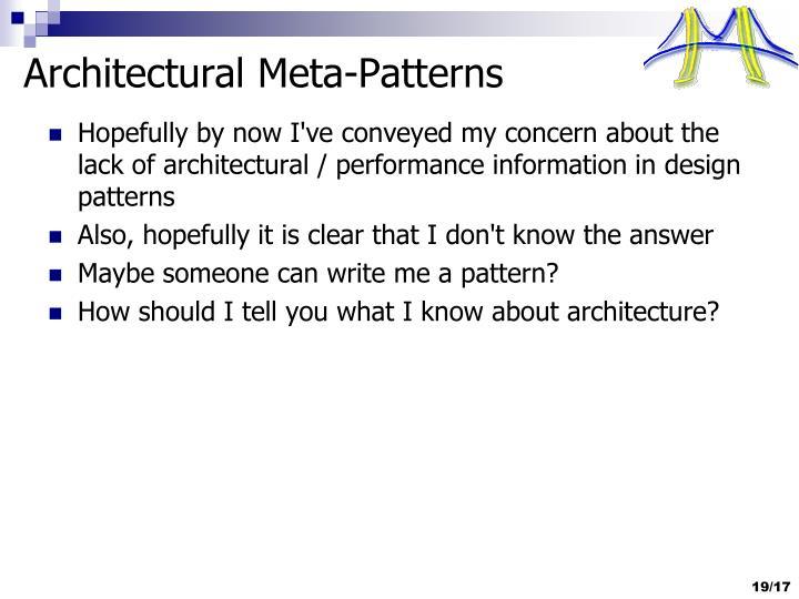 Architectural Meta-Patterns