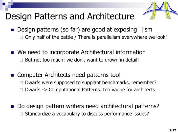Design Patterns and Architecture