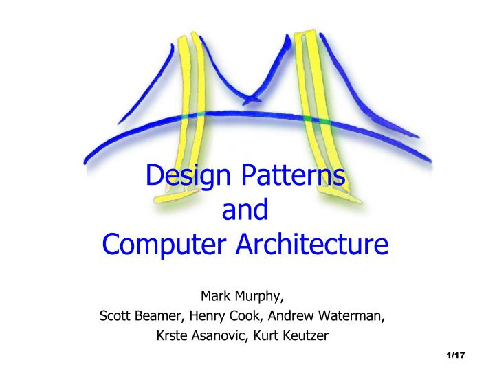 design patterns and computer architecture