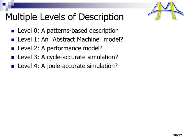 Multiple Levels of Description