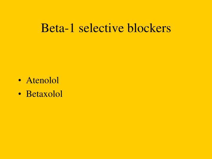 Beta-1 selective blockers