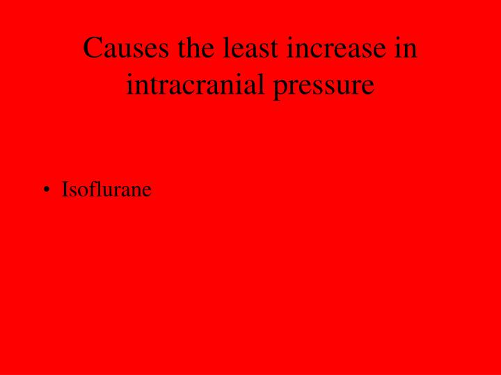 Causes the least increase in intracranial pressure