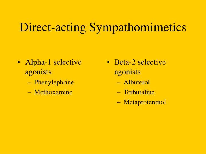 Alpha-1 selective agonists