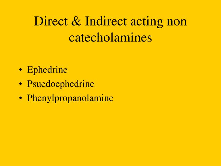 Direct & Indirect acting non catecholamines
